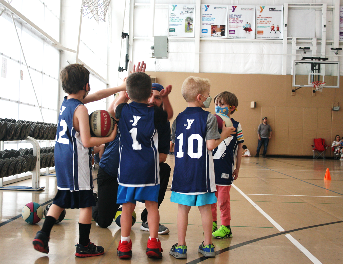 The Family YMCA Los Alamos Little Youth Basketball Volunteer Coach Erik Causey